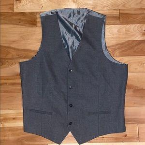 Alfani large slim fit gray men's lined suit vest